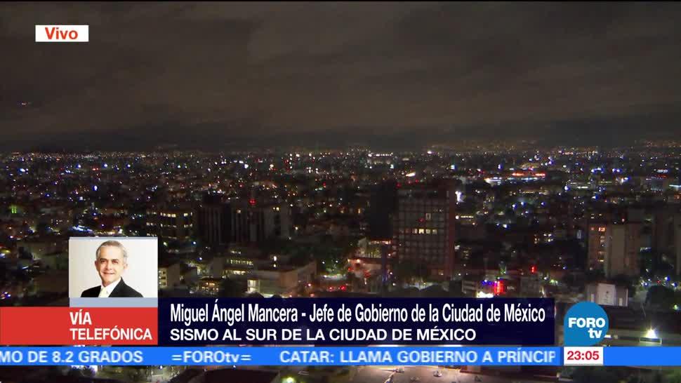 Mancera habla sobre sismo de 2.6 grados en CDMX