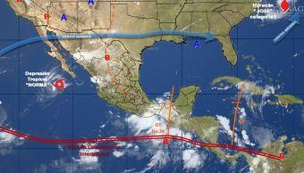mapa con el clima para este 19 de septiembre