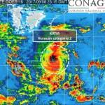 Huracán Katia esta por impactar a Veracruz