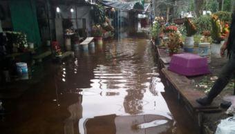 inundacion mercado cuemanco xochimilco lluvia vactor