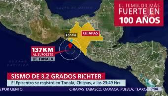 México registra el sismo más intenso del último siglo