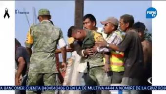 Militar Rompe Llanto Recuperar Cuerpo Mujer Hija