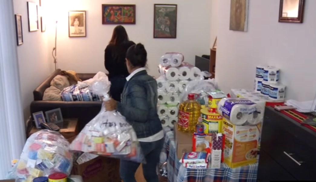Mujeres de juchitán instalan centro de acopio en la cdmx