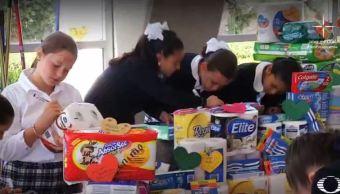niños mandan mensajes a damnificados por sismo