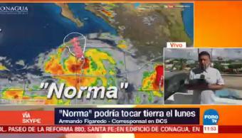 Norma Podría Tocar Tierra Baja California Sur