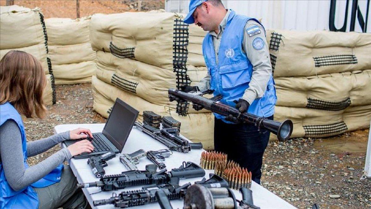 ONU concluye desmantelamiento escondites armas FARC