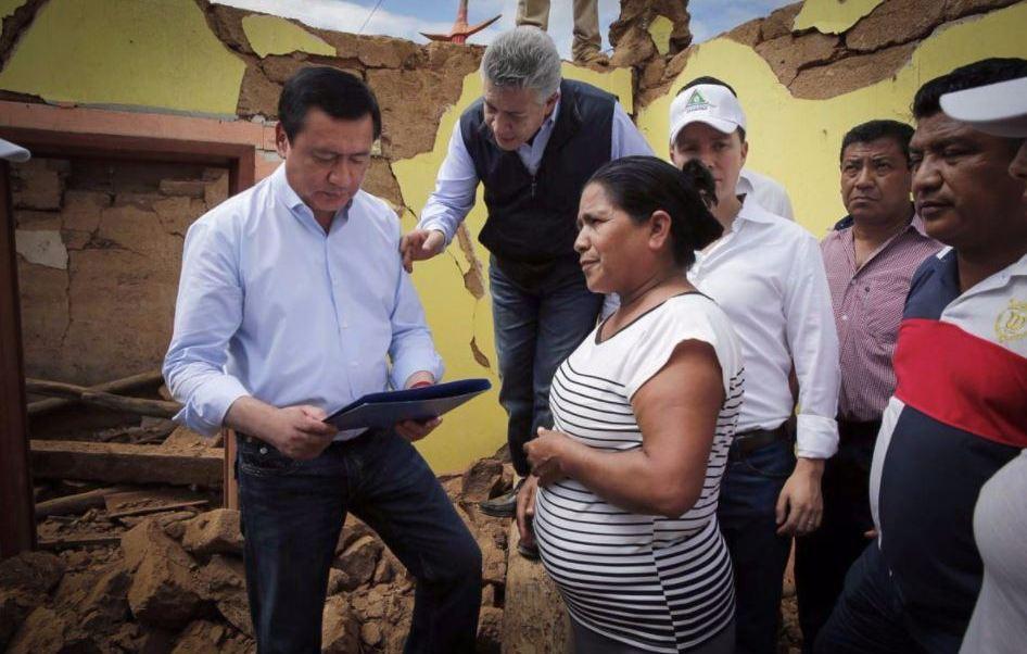No permitiremos que nadie se aproveche de damnificados por sismo: Osorio Chong