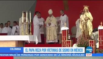 Papa Francisco reza por las víctimas del sismo de México