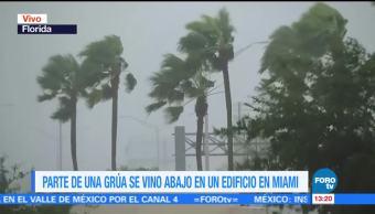 Parte, grúa, Miami, Irma