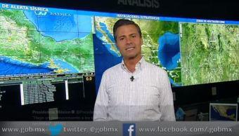Pena Nieto tres etapas para atender emergencia por terremoto