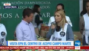 Peña Nieto Visita Centro Acopio Campo Marte