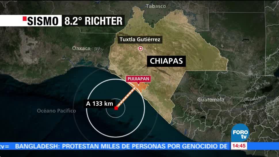 Reportan 347 Réplicas Sismo 8.2 Chiapas