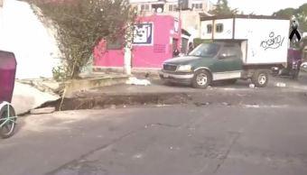 Se abre grieta en Tláhuac tras sismo