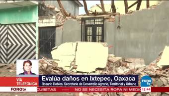 Sedatu, evalúa, daños, Ixtepec
