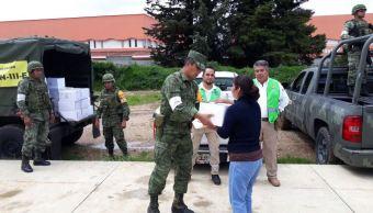 Sedena mantiene trabajos de ayuda a damnificados en Chiapas