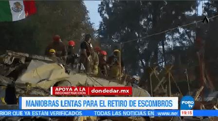Siguen Maniobras Remover Escombros Tlalpan