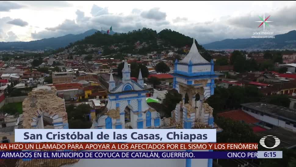 Sismo, daña, iglesias, Chiapas