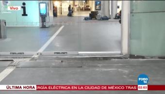 Sismo deja daños en Terminal 2 del AICM
