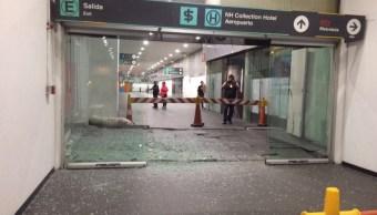 Daños por sismo en el aeropuerto de la cdmx
