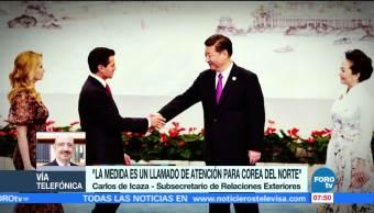 Situación diplomática entre México y Corea del Norte