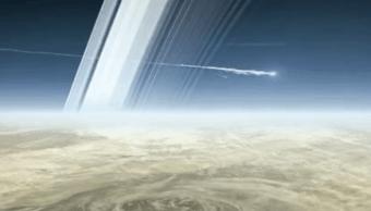 Sonda Cassini se impacta en la superficie de Saturno