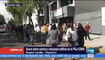 Suena alarma sísmica y desalojan edificio de la PGJ-CDMX