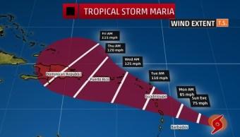 Puerto Rico suspende clases por llegada de la tormenta tropical María