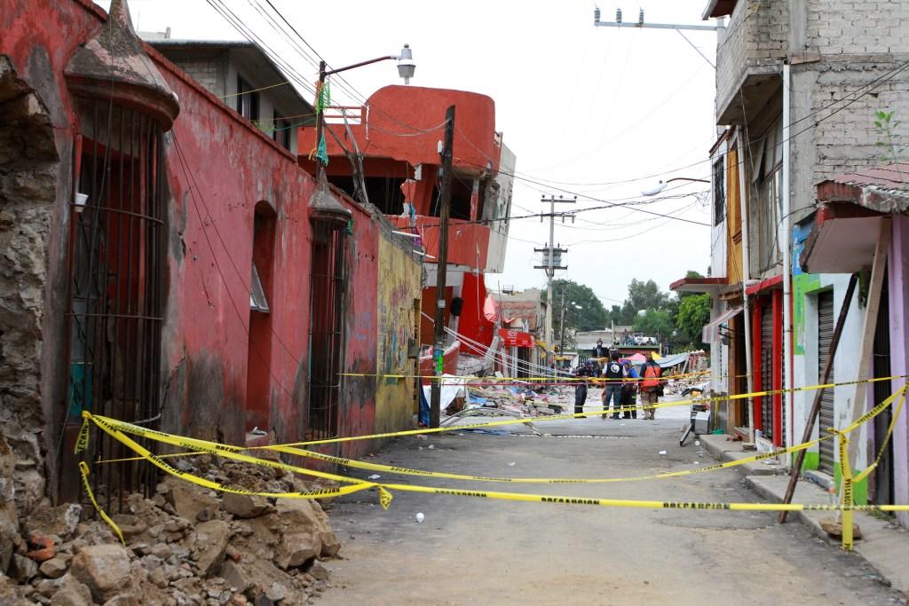 Casas dañadas por el sismo en Xochimilco