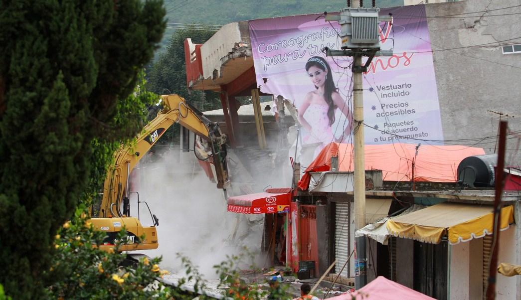 El pueblo de San Gregorio Atlapulco tras sismo
