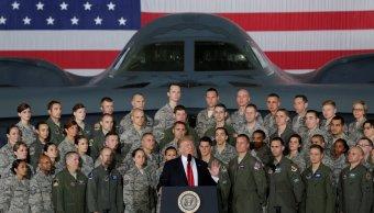 Trump advierte que armamento Estados Unidos podría demoler Norcorea