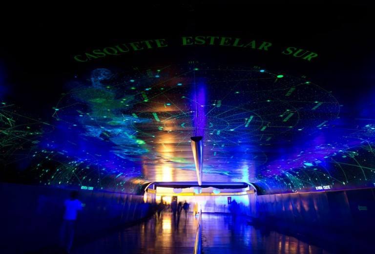 Túnel de la Ciencia en el Metro de la Ciudad de México.