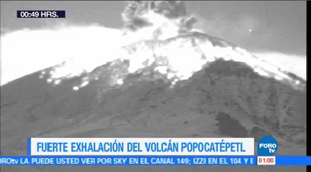 Volcán Popocatépetl Emite Fumarola 2 Mil Metros Altura