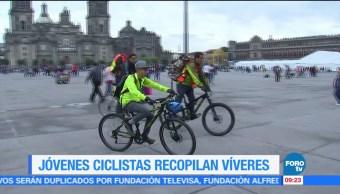 Ciclistas se solidarizan con los damnificados por el sismo