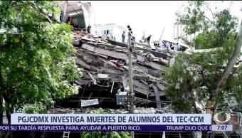 PGJ CDMX investiga 136 denuncias por derrumbes tras sismo del 19-S