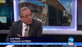 Luis Soto habla sobre la reconstrucción del país tras los sismos