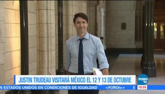 Justin Trudeau visitará México el 12 y 13 de octubre