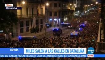 Se cumple huelga general en Cataluña en protesta por violencia durante referéndum