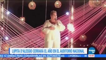 #LoEspectaculardeME: Lupita D'Alessio cerrará este año en el Auditorio Nacional