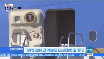 Trump llega a Las Vegas para reunirse con familiares de víctimas del tiroteo