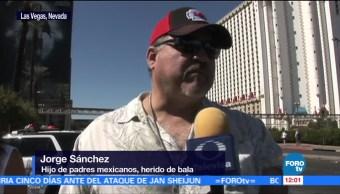 Mexicano herido relata como ocurrió el tiroteo en Las Vegas