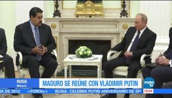 Nicolás Maduro y Vladimir Putin se reúnen en Rusia