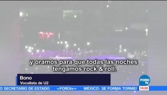 U2 anima concierto en CDMX con Cielito Lindo
