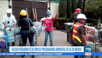 Colegio Rébsamen sí se amplió: Procuraduría Ambiental de la CDMX