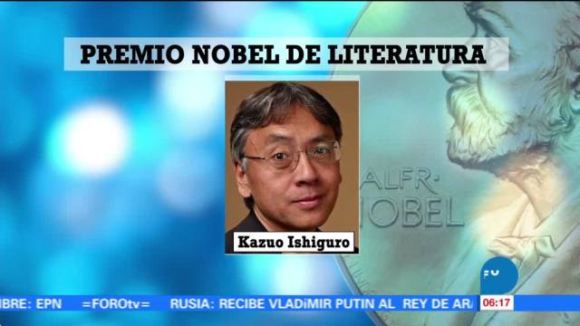 Kazuo Ishiguro gana Premio Nobel de Literatura 2017