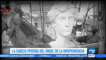 La cabeza del Ángel de la Independencia