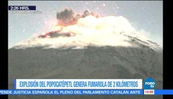 Se registra explosión del volcán Popocatépetl; lanza ceniza a Morelos