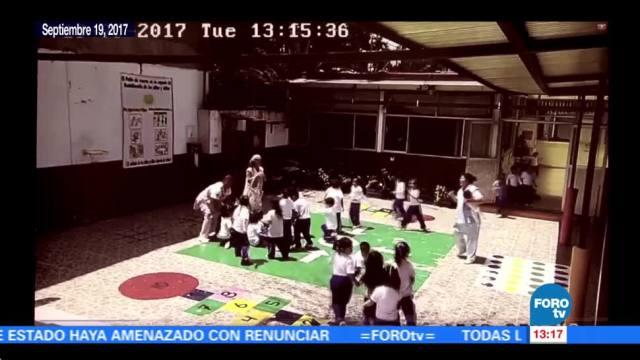 ISSSTE difunde videos de desalojo de menores en guarderías durante sismo