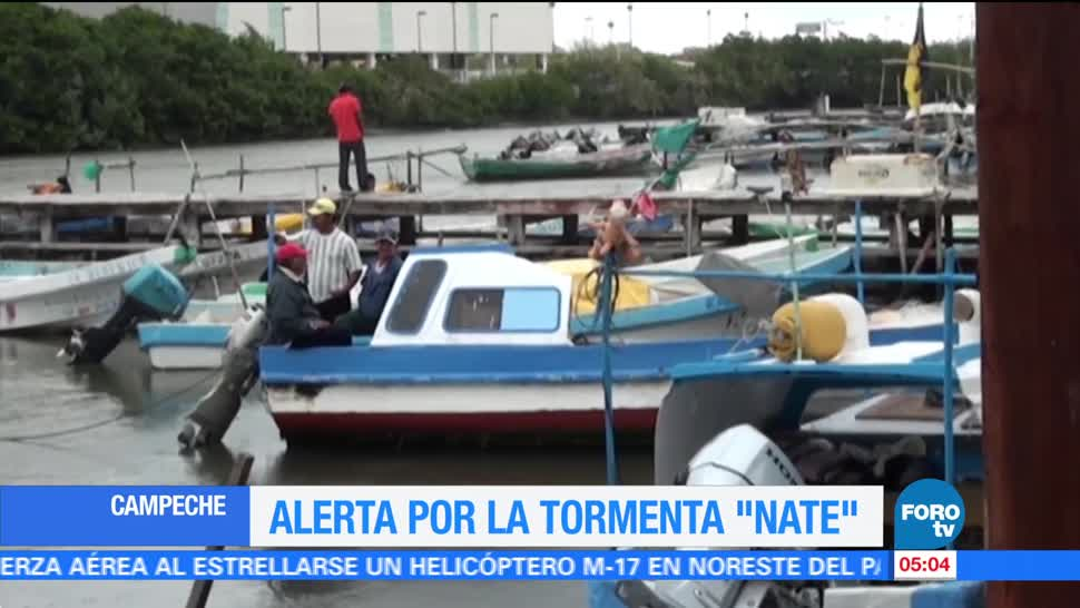 Emitan alerta amarilla en municipios de Quintana Roo por 'Nate'
