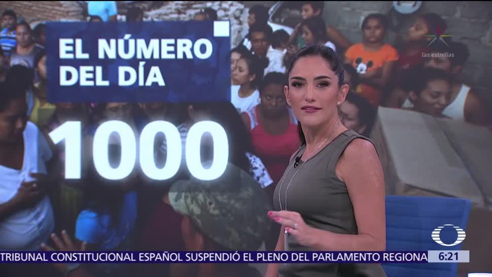 El número del día 1,000 recibieron ayuda por sismo sin ser damnificados