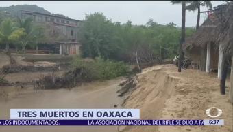 Suman 3 muertos en Oaxaca por lluvias de la tormenta 'Ramón'